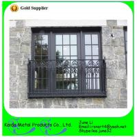 China Ormental wrought iron metal bar iron windows grills designs wholesale