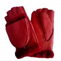 China Touch screen multifunctional sheep skins mitten leather mittens with fingers on sale