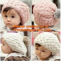 China baby hat kids baby photo props beanie,faux rabbit fur gorros bebes crochet beanie toddler wholesale