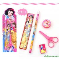 China Cheap Gift Children Student Cartoon Stationery Set Pencil Set in Blister Card wholesale