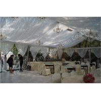 China Backyard Transparent Outdoor Party Tents , Clear Party Tent Rentals With Lining Decorations wholesale