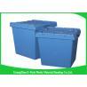 China Cajas de almacenamiento resistentes logísticas de la jerarquización, compartimientos de almacenamiento plásticos con las tapas con bisagras wholesale