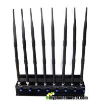 China Adjustable 8 Bands 20w High Power Wifi Signal Jammer Blocker Cell Phone Signal Jammer Block 2.4G 5.8G 5.2G  RF Signals wholesale