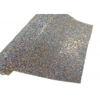 China Elastic Fabric Backing Silver Glitter Fabric Soft And Sparkle Material wholesale