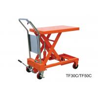 Buy cheap Heavy Duty Hand Lift Table With Safety Wedge Block , Convenient Maintenance from wholesalers