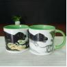 China White Porcelain Dinosaurs Interior Glazed 14oz Color Changing Mug wholesale