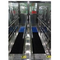 China Environmentally Friendly Sole Cleaning Machine In Air Shower Room on sale
