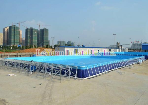 Quality UV Resistant Metal Frame Pools / Above Ground Swimming Pool With Strong PVC for sale