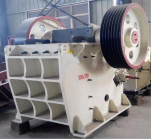 Buy cheap High Capacity Jaw Crusher Machine PE 500 X 750 20 - 52 T / H Mining Rock Crusher from wholesalers