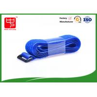 China Blue color hook and loop Luggage Straps hook and loop fasteners for fabric heat resistance wholesale
