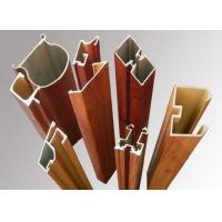 China Wood Grain Aluminum Window Frame Extrusions Antirust Abrasion Resistant wholesale