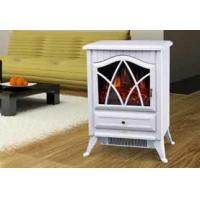 electric FIREPLACE heater antique stove log burning flame ND-18D2P chimenea red finish sales@knsing.com 008613662608511