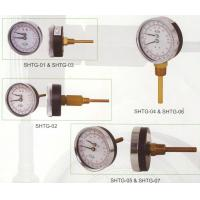 China Dial 80mm Tridicator Gauge , Temperature Gauge For Hot Water Boilers on sale