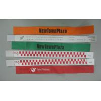 Printed Personalized TYVEK Wristbands Sweat-proof For Plaza Entrance