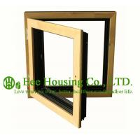 China Casement( Swing ) Type Wood Clad Aluminum Window with Insulating Double Glass For Villas wholesale