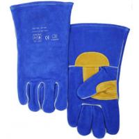 China Comfortable Protective Work Gloves , Welding Jnm Leather Safety Gloves For BBQ on sale