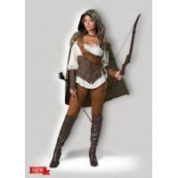 China Female Halloween Costumes / Halloween Adult Costumes Enchanted Forest Huntress 1139 wholesale