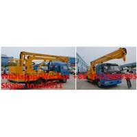 China factory sale 2019s 14m-16m fold arm type High altitude working platform Aerial truck crane truck with working bucket on sale