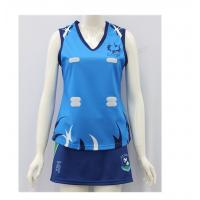 China Anti Pilling Girls Netball Dress , Sports Team Apparel Mbroidery / Screen Print  on sale