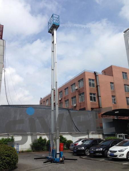Quality Couleur bleue de plate-forme de travail aérien d'alliage d'aluminium de 14 mètres pour le nettoyage de vitres for sale