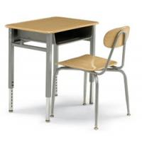 China metal school desk and chair wholesale