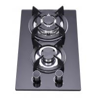 China Household LPG 2 Burner Gas Stove Top , Glass Top Two Ring Gas Hob wholesale