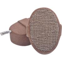 China Eco - Friendly Hemp Oval Bath Body Scrubber Pad No Stimulation With Elastic Belt wholesale