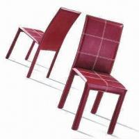 China Leather, PU or PVC Upholstery and Shape Sponge Dining Chair with Metal Frame wholesale