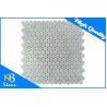China Penny Round White Porcelain Marbel Mosaic Tiles Fashion Design Decorative Wall Tile wholesale