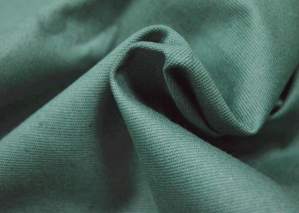 Quality Green Color 100 Cotton Canvas For Garment Waterproof Fire Retardant for sale