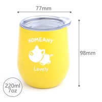 China BSCI 7 Oz 220ml Stainless Steel Stemless Wine Tumblers wholesale