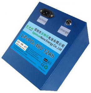 China lifepo4 battery pack 48v 12ah used for E-bike, solar street light,UPS on sale