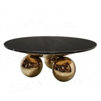 China Modern  Dining room Table Marble Top Round With ball leg China low price wholesale