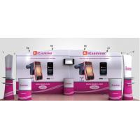 High Definition Printing Tension Fabric Banner , Fabric Exhibition Stand
