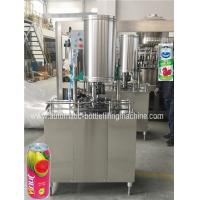 China Small Beverage Can Filling Machine , Can Filler And Seamer Juice Packing Machine on sale