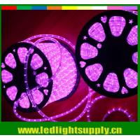 China 2 wire led pink color transparent neon flex wire rope lights wholesale