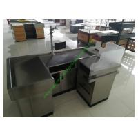Buy cheap Stainless Steel Cash Register Checkout Counter / Shop Checkout Stand from wholesalers
