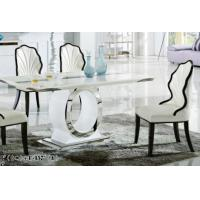 China luxury modern rectangle marble dining room table furniture wholesale