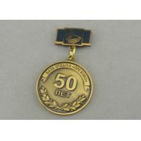 China Zinc Alloy Custom Awards Medals Die Costing Antique Gold Double Side 3D Military wholesale