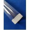 China custom Transparent Irregular shape quartz lining tube screw thread tube Screw Thread Fused Silica Quartz Glass Pipe wholesale