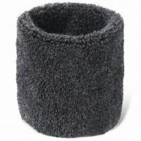 China Toweling Sweatband, Made of Cashmere with Embroidery or Woven Logo wholesale