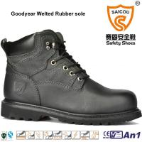 China High Quality Goodyear Welted High Ankle safety boots caterpillar work boots on sale