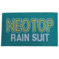 China Fashion Design Woven Clothes Label Heat Cut Border For Shirt Bags on sale