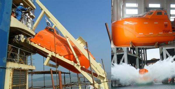Quality Solas Approved Totally Enclosed Free Fall Life Boat for sale