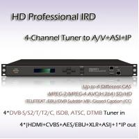 China 4-Channel HD Professional IRD ATSC & IP input/output iptv system headend wholesale