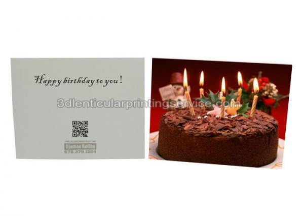 Quality Tarjeta de cumpleaños lenticular a prueba de calor del servicio de impresión 3D para el regalo, doblez del 12x17cm for sale