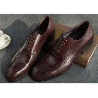 China Narrow Style Mens Leather Oxford Shoes , Comfy Modern Office Mens Shoes on sale