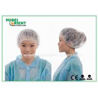 China 12gsm Disposable Nonwoven Bouffant Cap 21 Inch in White Red wholesale