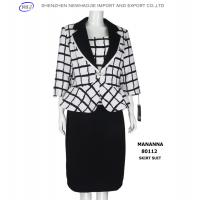 China neck designs for woman suit with black skirt on sale
