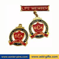 Buy cheap ADDGIFTS high quality lapel pins zinc alloy die cut lapel with safety pins from wholesalers